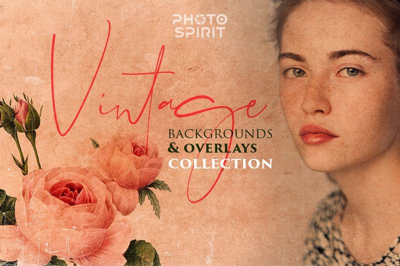 Vintage Backgrounds & Overlays Collection