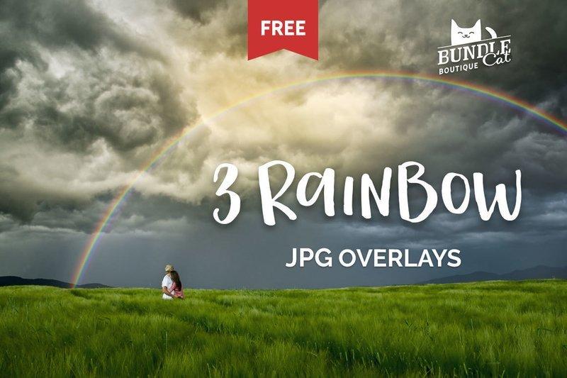 Free Rainbow JPG Overlays