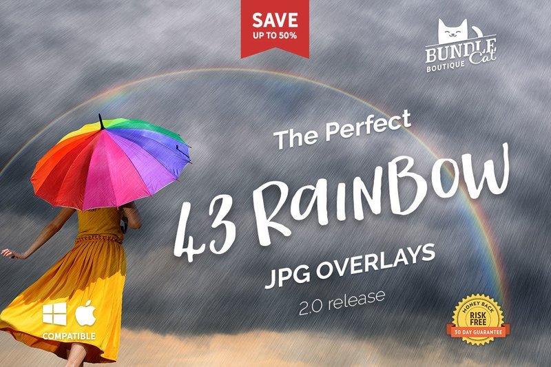 43 Rainbow Photo Overlays 2.0