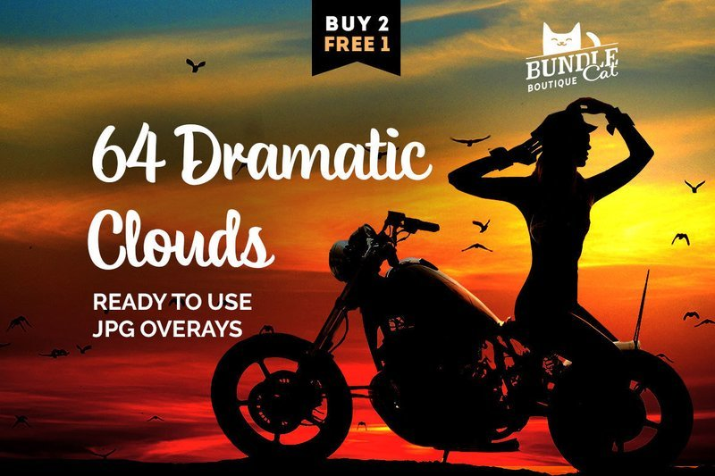 64 Dramatic Sky Overlays