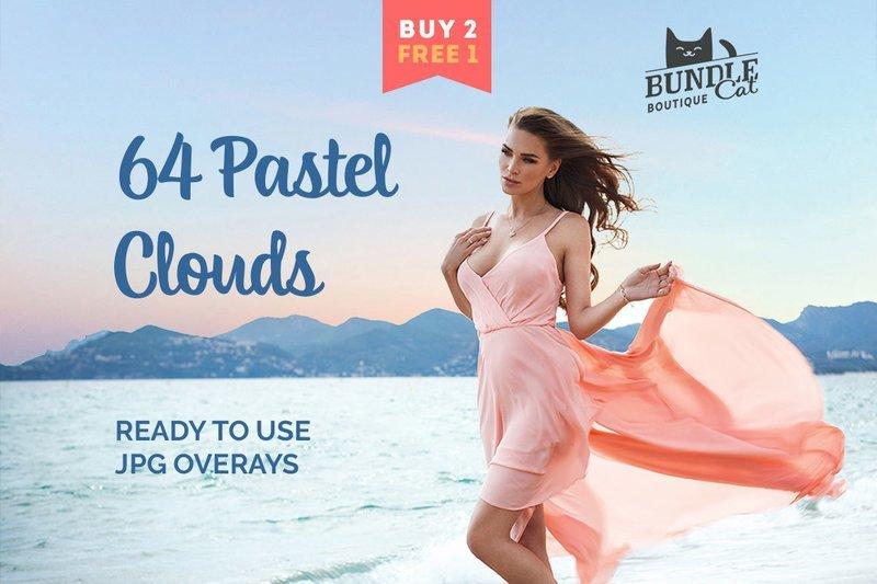 64 Pastel Sky Overlays