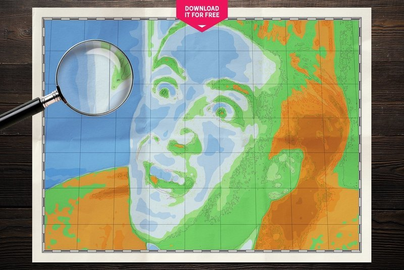 Nicolas Cage You Don't Say Map Wall Art Poster Free