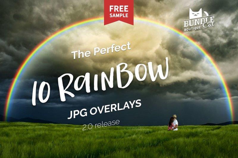 10 Rainbow Photo Overlays 2.0