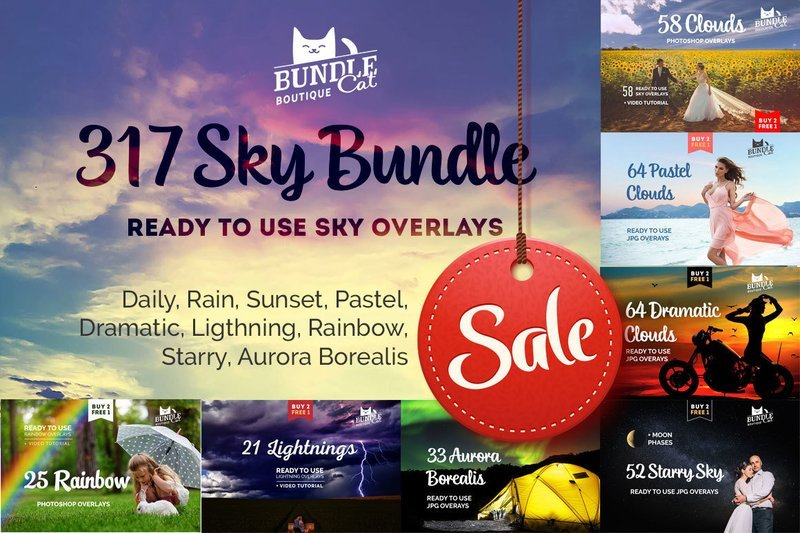 317 Sky Overlays Bundle