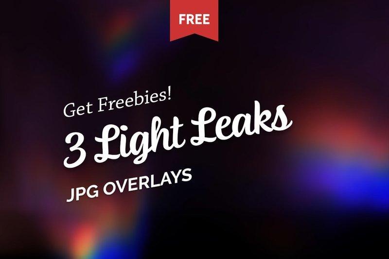 Free Colorful Light Leaks Photo Overlays