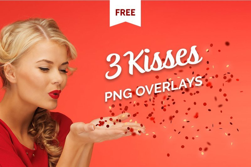 Free Blowing Kisses Photo Overlays