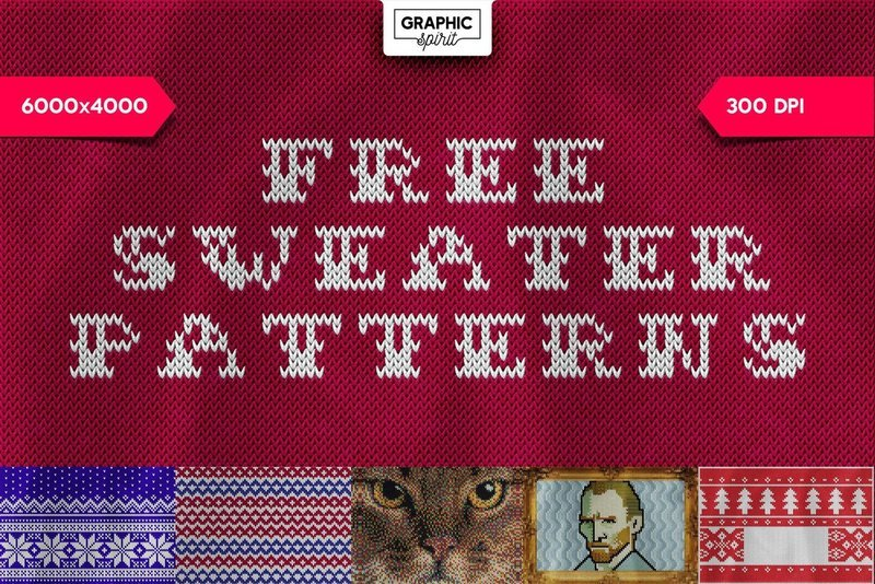Free Christmas Sweater Patterns - Photoshop Template