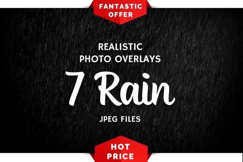 7 Rain Photo Overlays