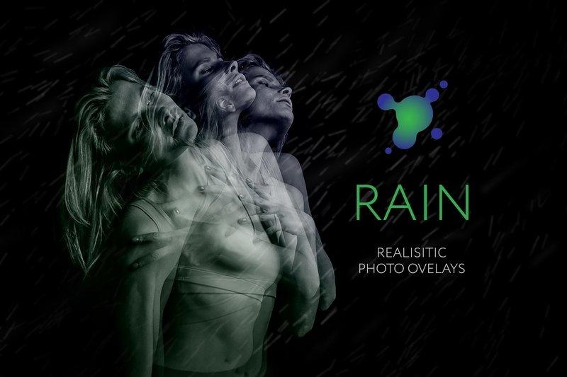 45 Rain Photo Overlays
