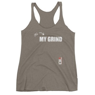 Grind - White Print Tank Top