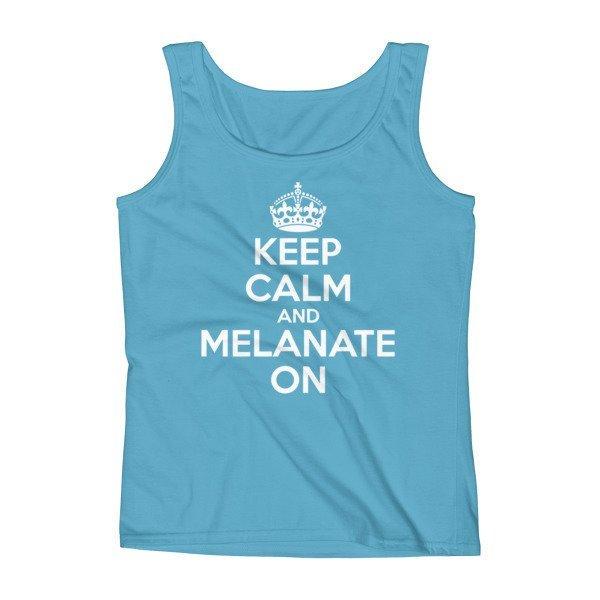 Keep Calm - White Print Tank