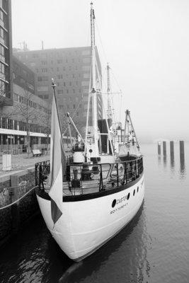 Schip in de mist
