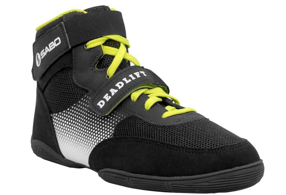 SABO DEADLIFT 1 LIME shoes for powerlifting deadlift gym