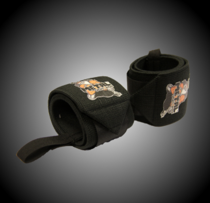 METAL Black Wrist Wraps (IPF approved), 60 cm