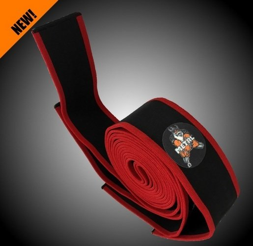 METAL Black'n Red Knee Wraps, 2.5 meters