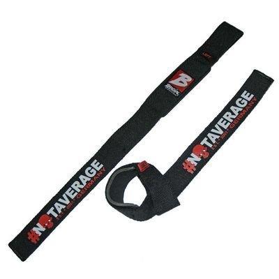 BRACHIAL Lifting Straps Strong BLACK/RED