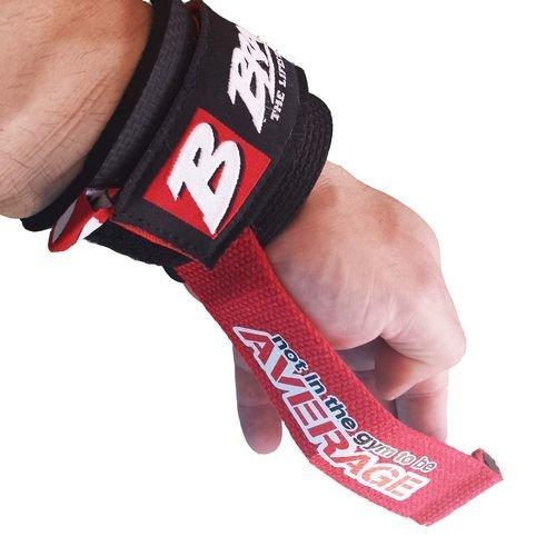BRACHIAL Lifting Straps Drag BLACK/RED