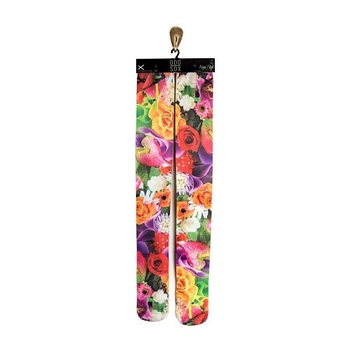 ODD SOX Flowers Knee-high deadlift socks