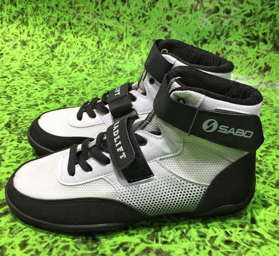 SABO DEADLIFT 1 WHITE shoes for powerlifting deadlift gym