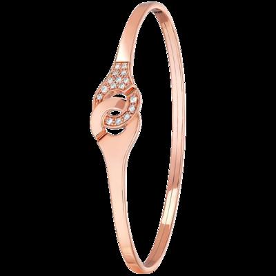 f8d9ead26fd Bracelet Menottes dinh van R10 or rose et diamants