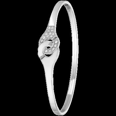 94460110a68 Bracelet Menottes dinh van R10 or blanc et diamants
