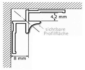 Innenecke Mattsilberfarbig (EV1)