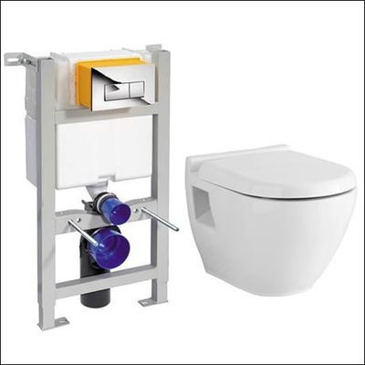 Toilets, Flushing parts and Wall Frames