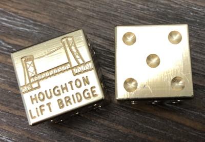 Dice Set - Houghton Lift Bridge (2 Pieces)