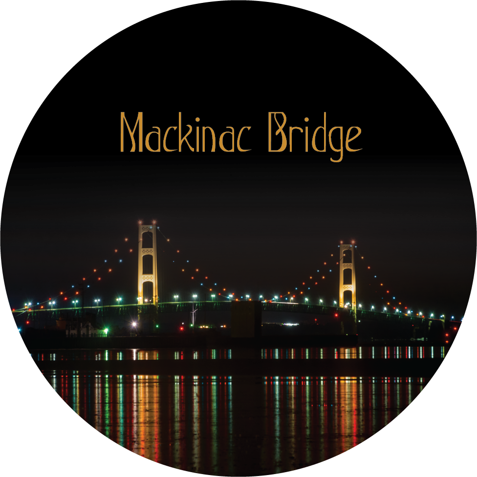 Mackinac Bridge (Night Reflections) Magnet