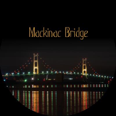 Mackinac Bridge (Night Reflections) Magnet