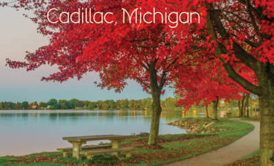 Cadillac Michigan Park Bench Magnet