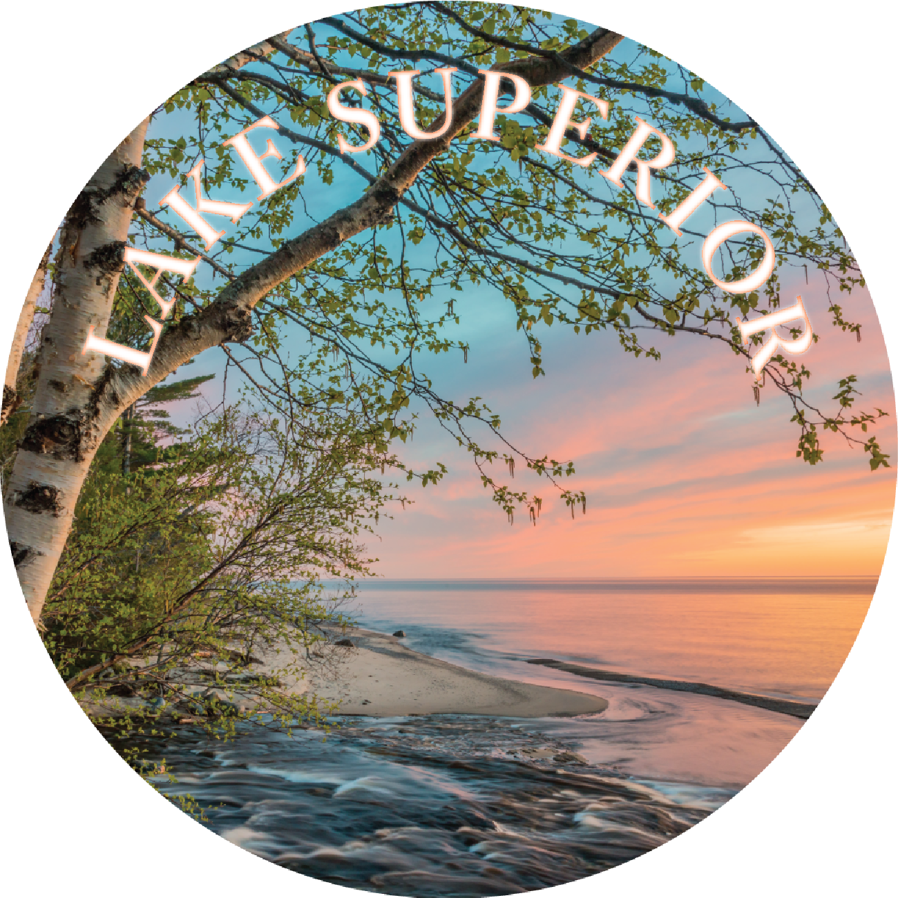 Lake Superior (Sunset at Shore) Magnet