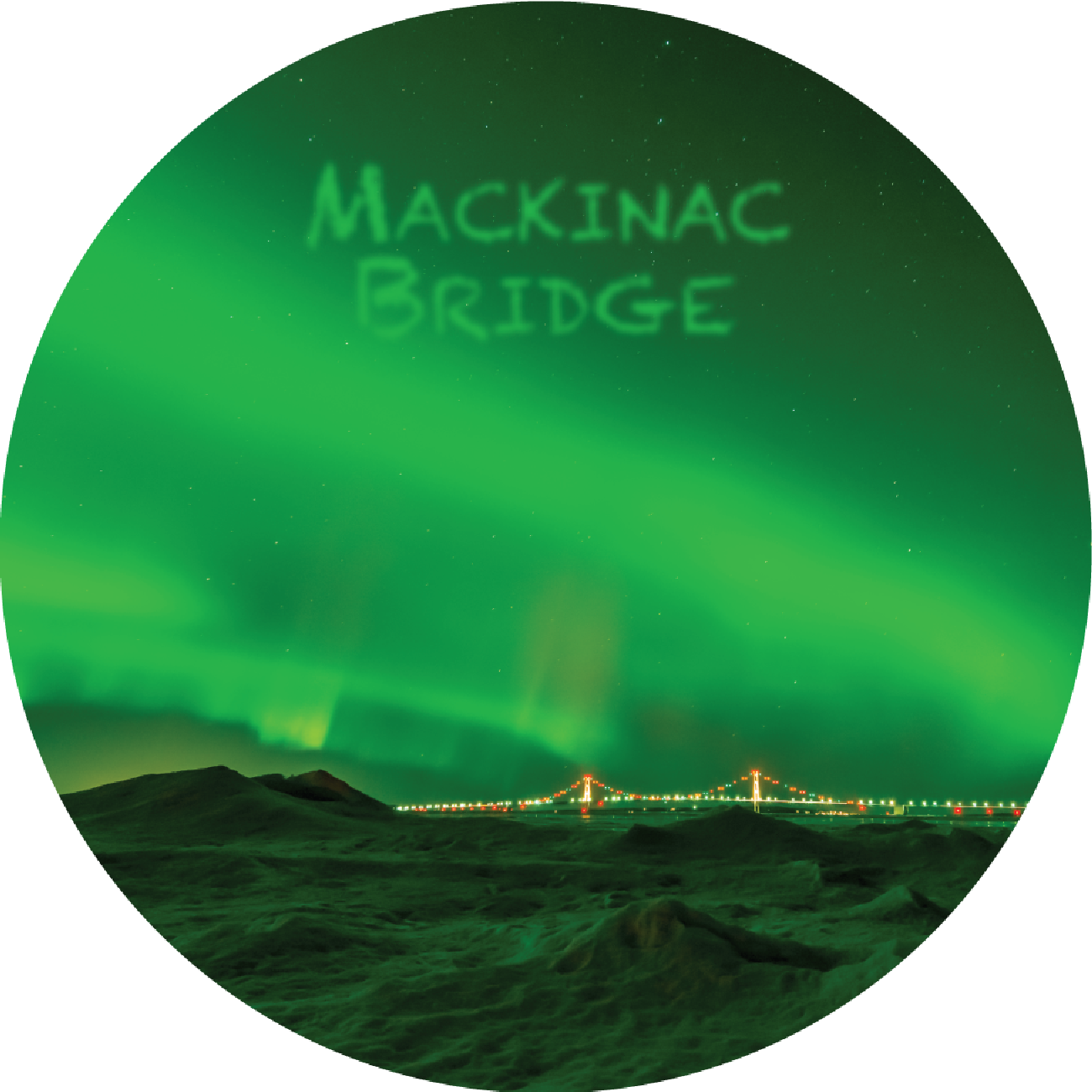 Mackinac Bridge - Northern Lights Magnet