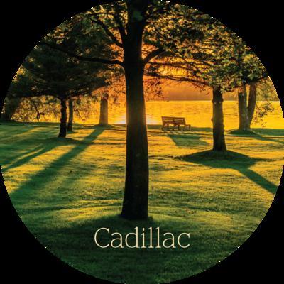 Cadillac Michigan Park Magnet