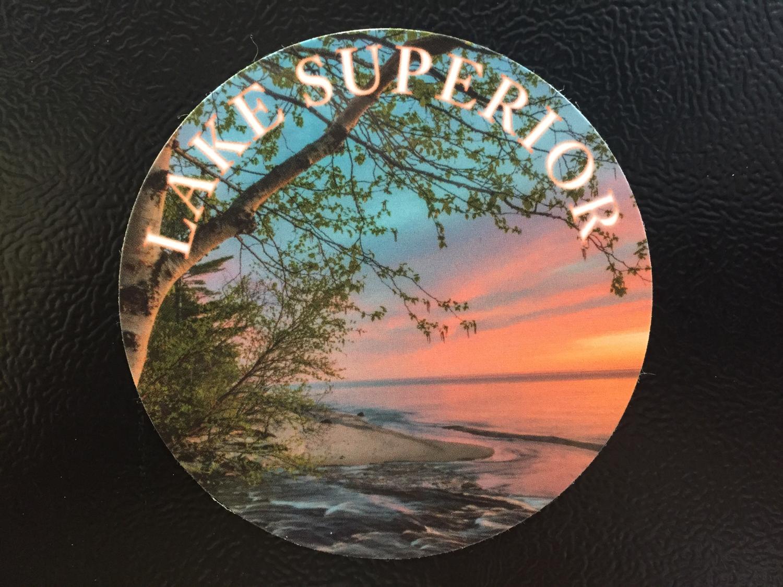 Lake Superior (Sunset at Shore) Magnet
