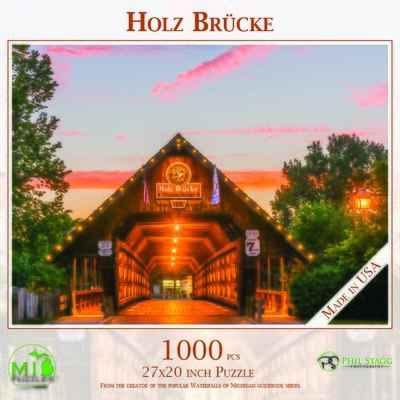 Holz Brücke Puzzle