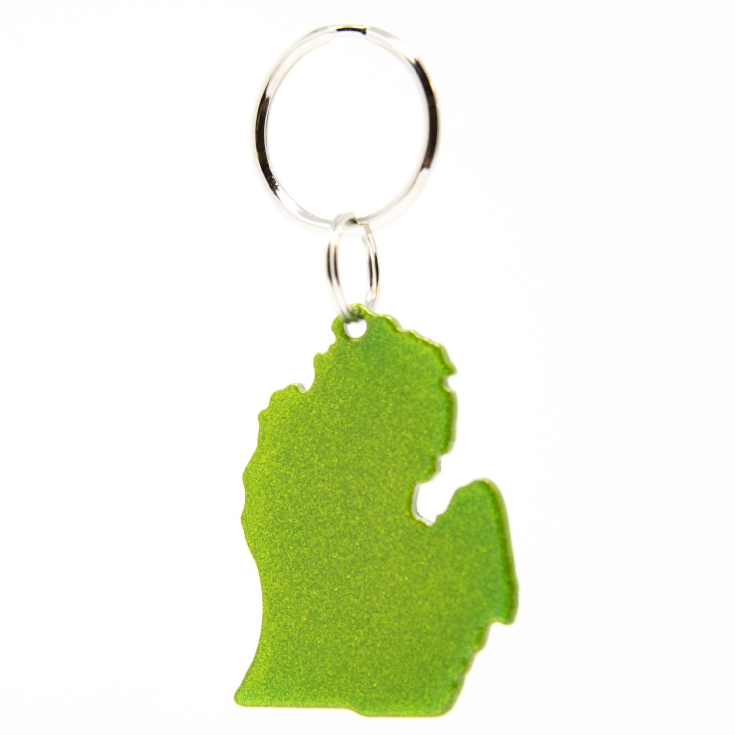Lower Peninsula Key Chain - Sparkly Green