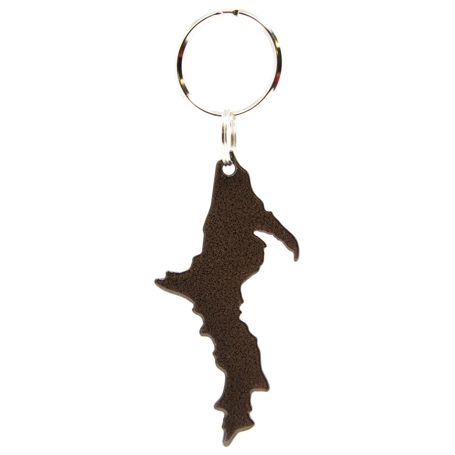 Upper Peninsula Key Chain - Antique Copper