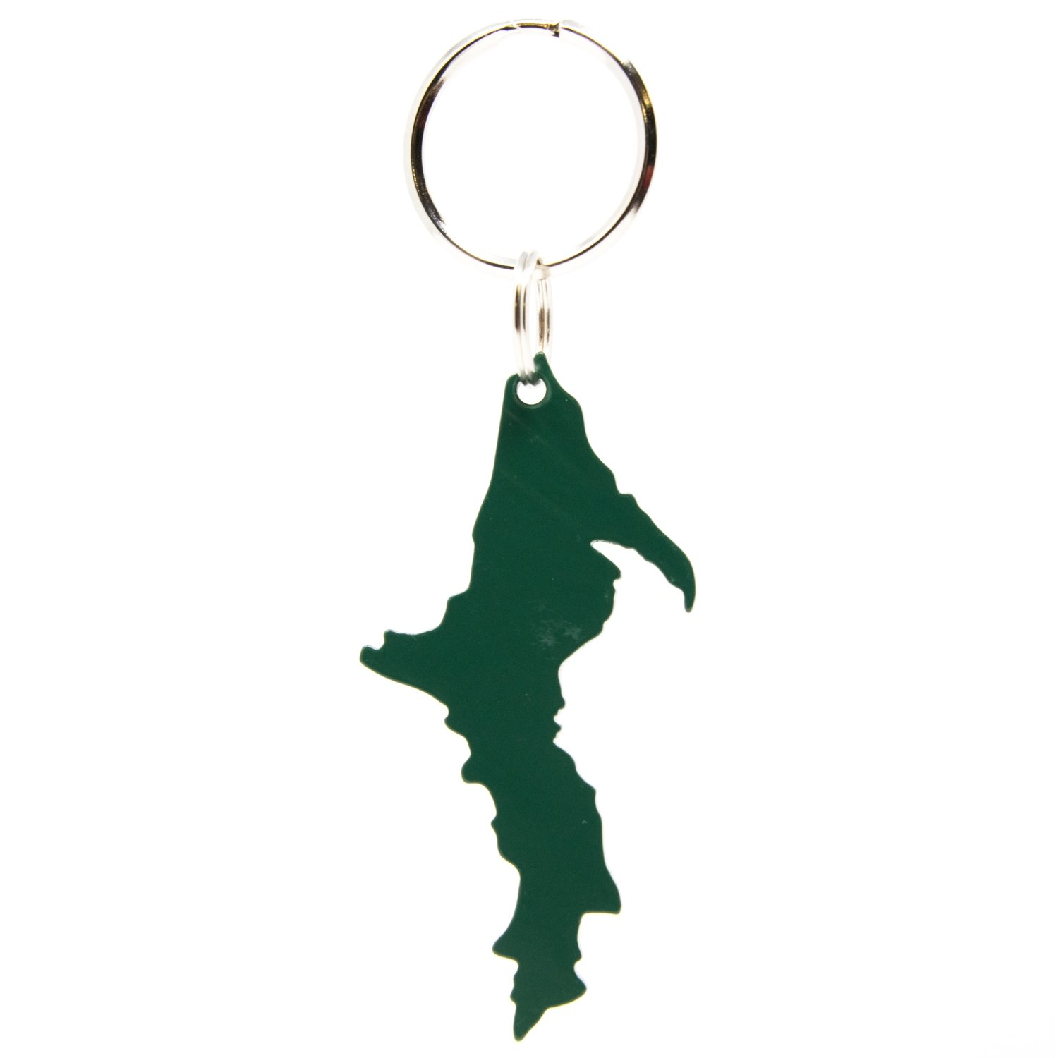 Upper Peninsula Key Chain - Forest Green