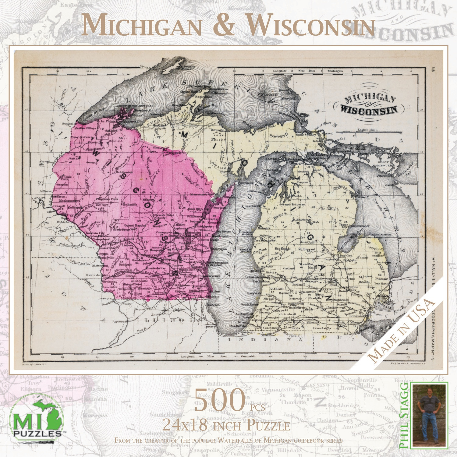 Michigan & Wisconsin Map