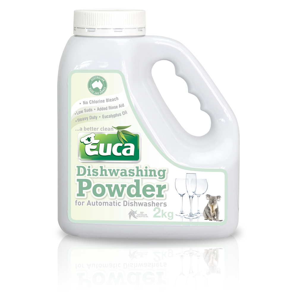 Euca Eucalyptus Dish Washing Powder  - 2kg = 100 Washes  - Eco Friendly with No Fillers or other nasties 379F