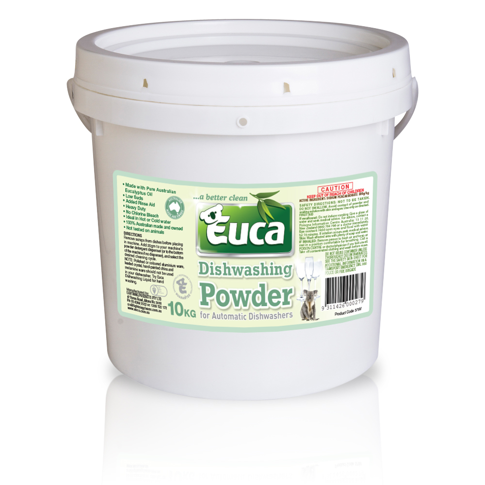 Euca Eucalyptus Dish Washing Powder  - 10kg = 500 Washes  - Eco Friendly with No Fillers or other nasties 379V