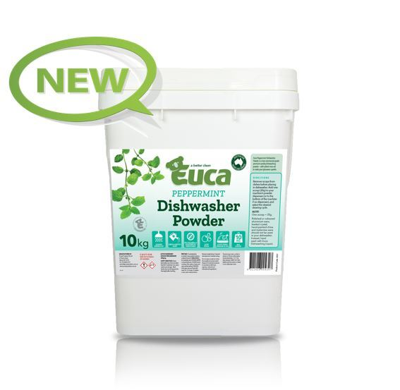 "Euca ""NEW"" Peppermint Eucalyptus Dish Washing Powder  - 10kg  = 500 Washes - Eco Friendly with No Fillers or other nasties 380V"