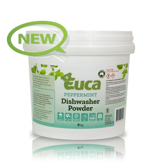 "Euca ""NEW"" Peppermint Eucalyptus Dish Washing Powder  - 4kg  = 200 Washes - Eco Friendly with No Fillers or other nasties 380N"