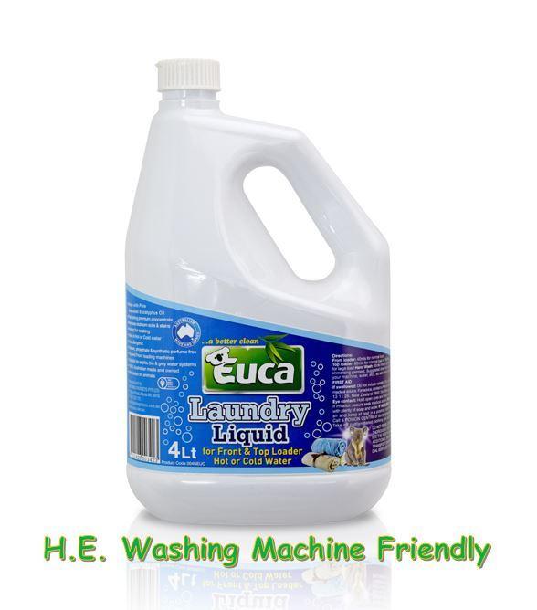 Euca Laundry Liquid  - 4LT - Concentrate = 200 Washes* 004NEUC