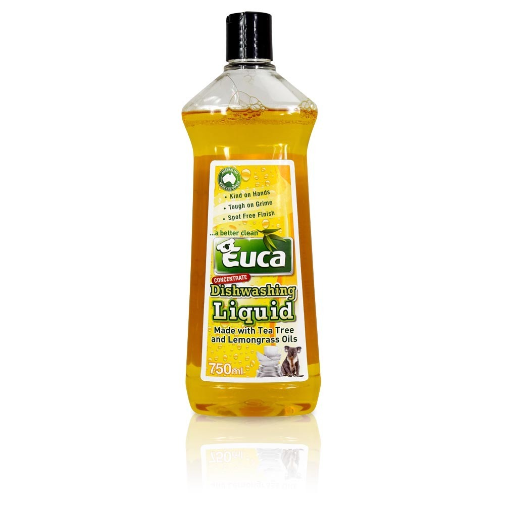 Euca Dishwashing Liquid - 750ml, 4lt and NEW 10lt   - Dishwashing Concentrate made with Tea Tree Oil & Lemongrass 543