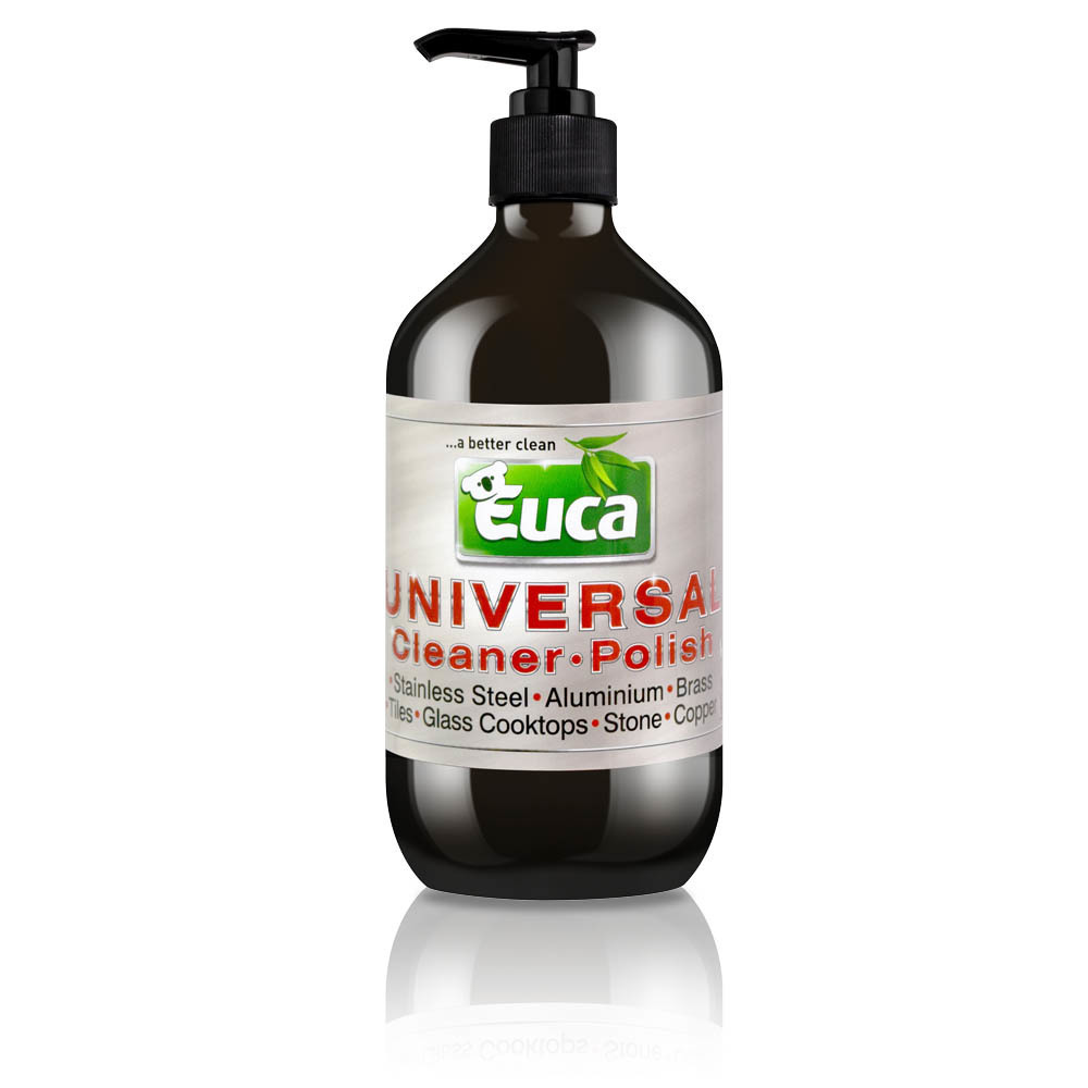 Euca Universal 500ml - All Purpose Hard Surface Cleaner & Polisher- use on Tiles, Benches, Sinks, ovens,  Taps & Showers 542C