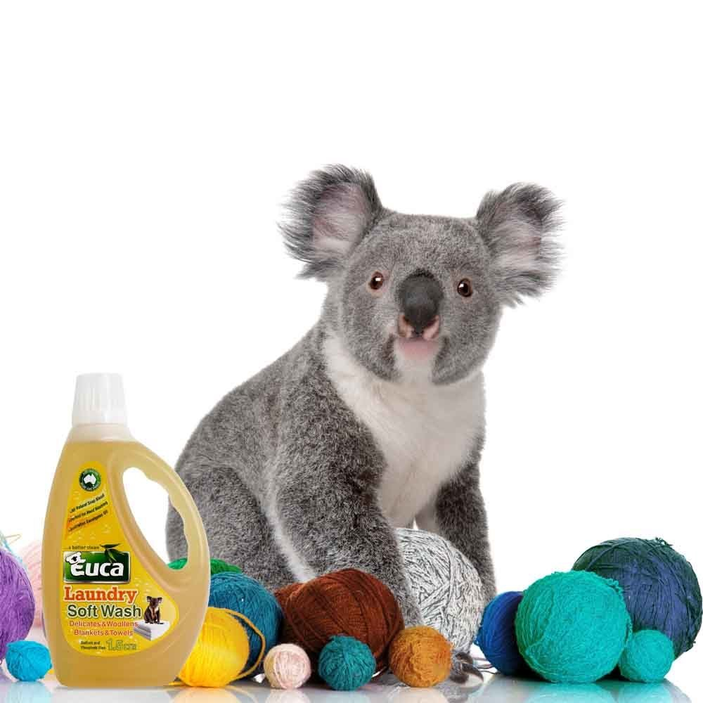 Euca Eucalyptus Soft Wash for wool and delicates doonas and towels 1.5Lt