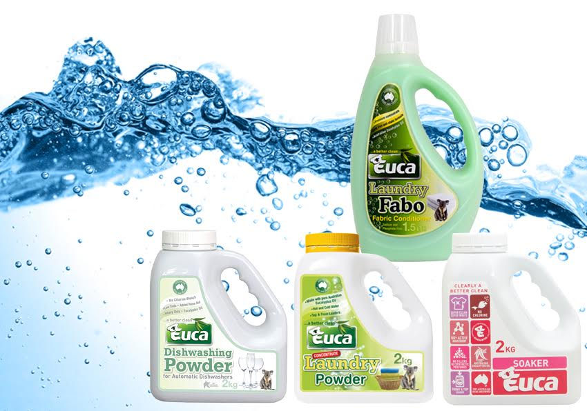 Euca Powder Starter Kit - Laundry, Soaker, dishwasher plus a fabric conditioner (yes we know that's not a powder) EPSK01