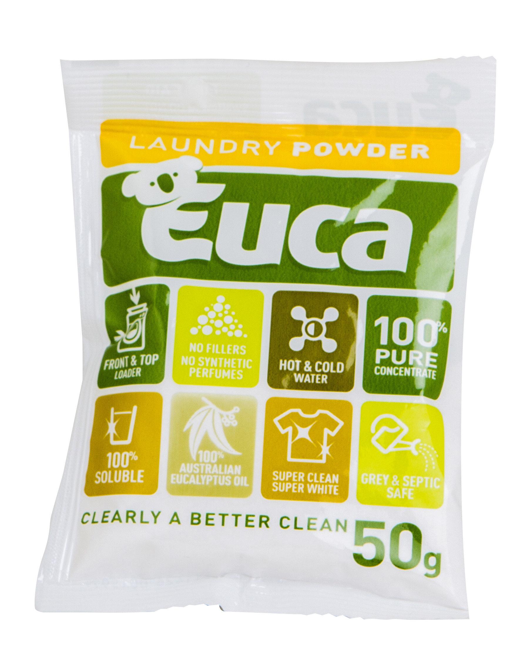 Euca Laundry Powder 50g Travel sachet 106S50